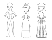 Roman Lady Paper Doll to Color