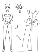 Cinderella Paper Doll to Color