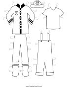 Firewoman Paper Doll Uniforms to Color