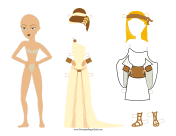 Greek Lady Paper Doll