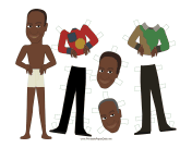 Huxtable Celebrity Paper Doll