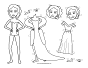 Liz Celebrity Paper Doll to Color