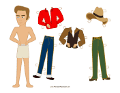 Rebel Celebrity Paper Doll