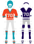Football Player Paper Doll Outfits