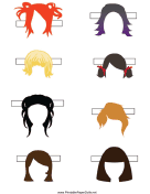 Paper Doll Page of Hairstyles