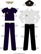 Policeman Paper Doll Outfits