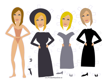 Babs Celebrity Paper Doll paper doll