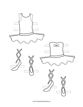 ballerina paper doll outfits to color. Black Bedroom Furniture Sets. Home Design Ideas