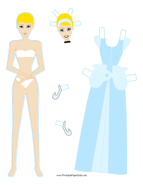 Cinderella Paper Doll paper doll