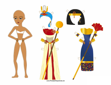 Egyptian Lady Paper Doll paper doll