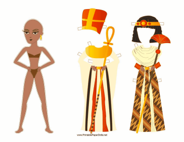 Egyptian Queen Paper Doll paper doll