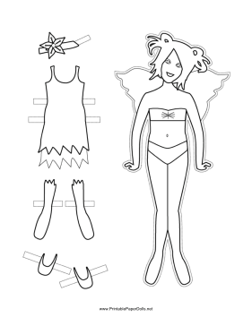 Fairy Ballerina Paper Doll to Color paper doll