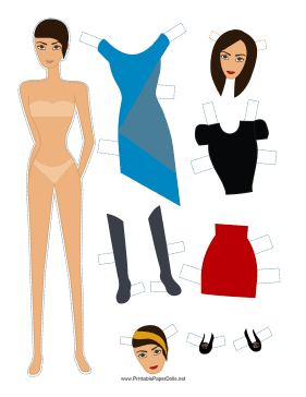 Fashion Paper Doll paper doll