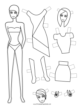 Fashion Paper Doll to Color paper doll