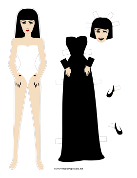 Halloween Bride Paper Doll paper doll