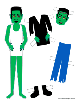 Halloween Monster Paper Doll paper doll