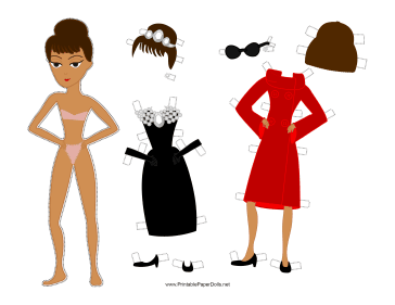 Holly Celebrity Paper Doll paper doll