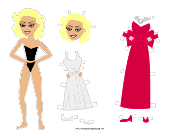 Norma Celebrity Paper Doll paper doll