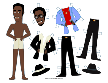 Rat Pack Celebrity Paper Doll paper doll