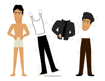 Rocky Celebrity Paper Doll paper doll