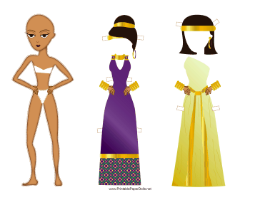 Roman Lady Paper Doll paper doll