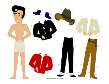 The King Celebrity Paper Doll paper doll