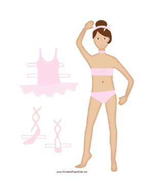 Pink Ballerina Paper Doll paper doll