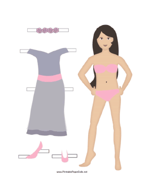 Bridesmaid Paper Doll paper doll