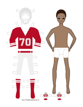 Football Player Paper Doll paper doll