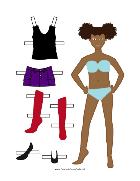 Girl Paper Doll with Skirt paper doll
