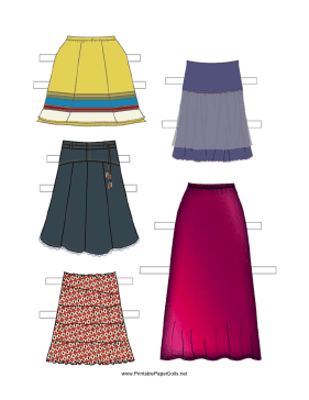 Paper Doll Skirts paper doll