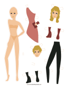 Fashion Paper Doll with Clutch paper doll